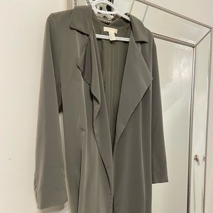H&M sage green / khaki trench coat